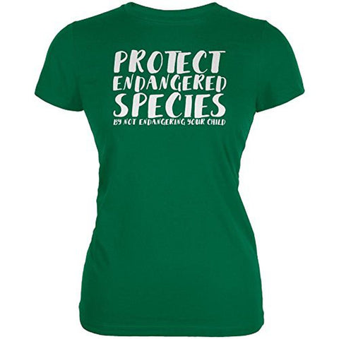 Protect Endangered Species Your Child Juniors Soft T Shirt