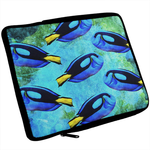 Blue Tang Fish Tropical Splatter iPad Tablet Sleeve