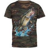 Bass Leaping in Action Mens T Shirt