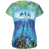 Dolphins Jumping Over Reef All Over Womens T Shirt