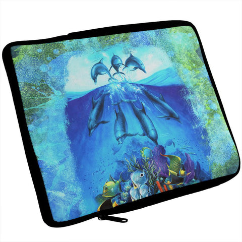 Dolphins Jumping Over Reef iPad Tablet Sleeve