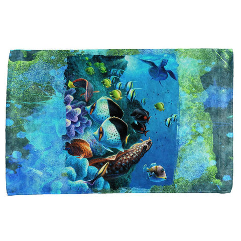 Tropical Reef Splatter All Over Hand Towel