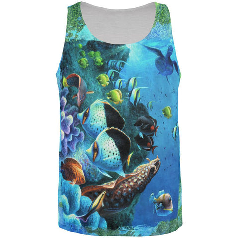 Tropical Reef Splatter All Over Mens Tank Top