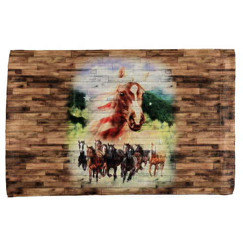 4th of July Wild Horse Mustang Patriot All Over Hand Towel