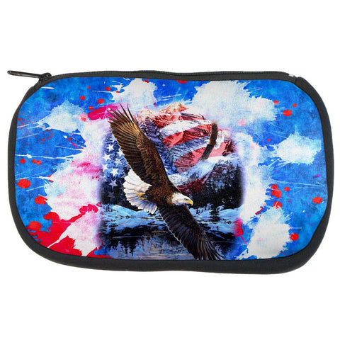 4th of July American Flag Bald Eagle Splatter Travel Bag