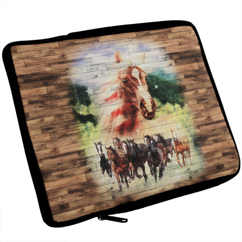 4th of July Wild Horse Mustang Patriot iPad Tablet Sleeve