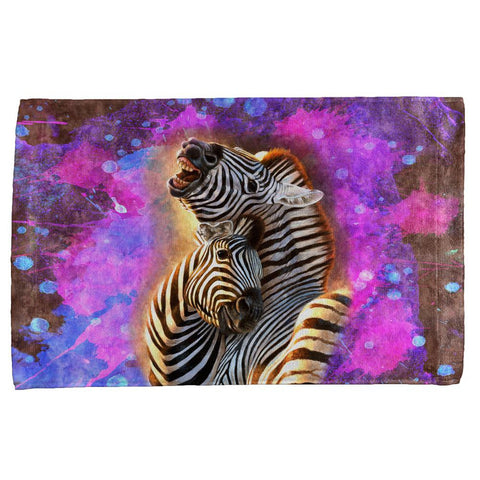 Zebra Lovers Splatter All Over Hand Towel