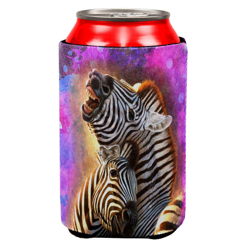 Zebra Lovers Splatter All Over Can Cooler