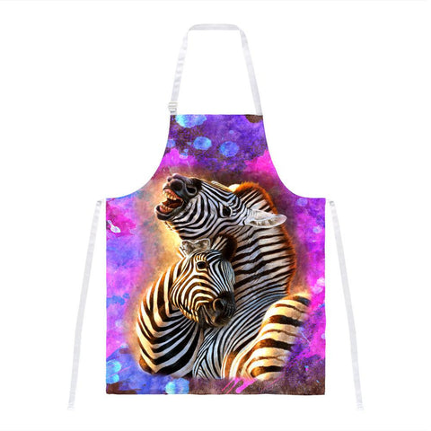 Zebra Lovers Splatter All Over Apron