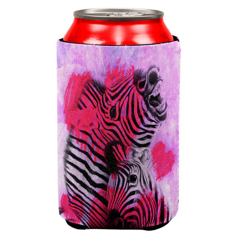 Zerba Lovers Valentines Hearts All Over Can Cooler