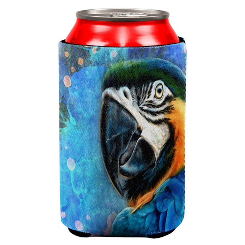 Exotic Blue Gold Macaw  All Over Can Cooler