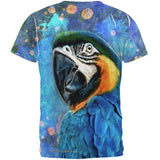 Exotic Blue Gold Macaw All Over Mens T Shirt