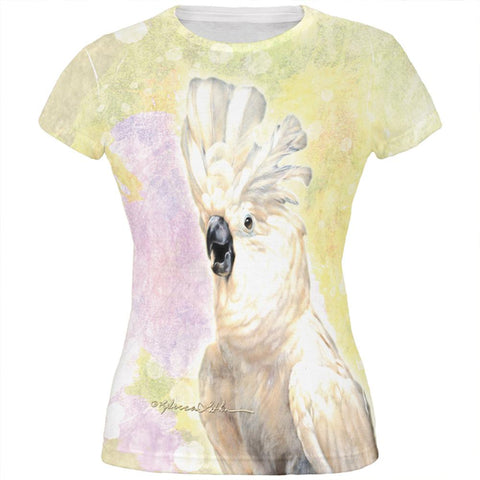 Screaming Cockatoo All Over Juniors T Shirt