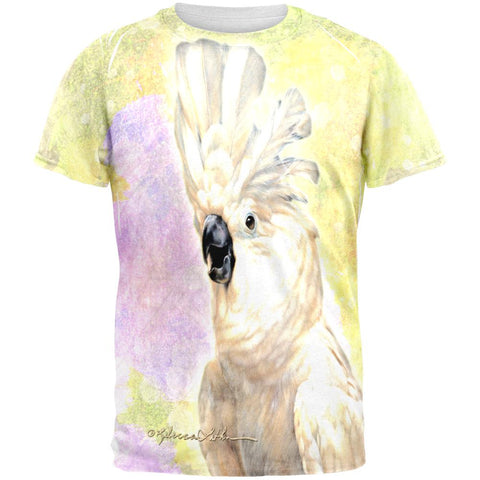 Screaming Cockatoo All Over Mens T Shirt