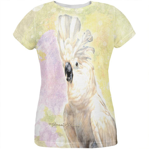 Screaming Cockatoo All Over Womens T Shirt