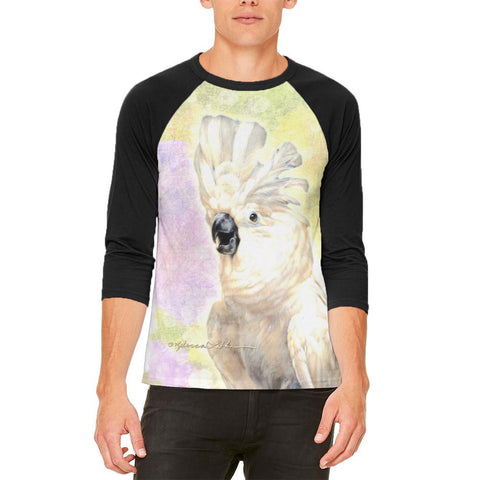 Screaming Cockatoo Mens Raglan T Shirt