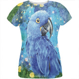 Blue Hyacinth Macaw Splatter All Over Womens T Shirt