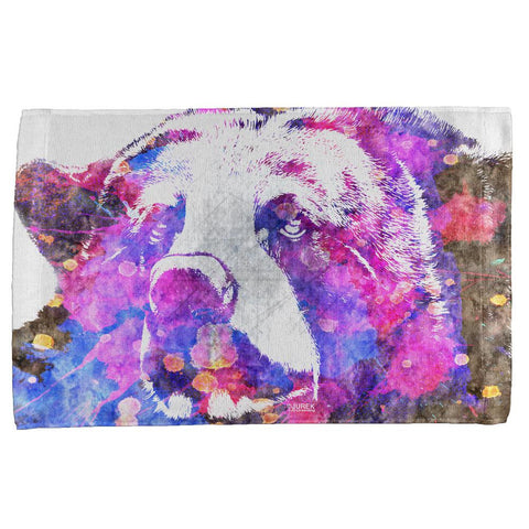Spirit Bear Splatter All Over Hand Towel