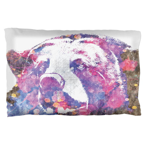 Spirit Bear Splatter Pillow Case