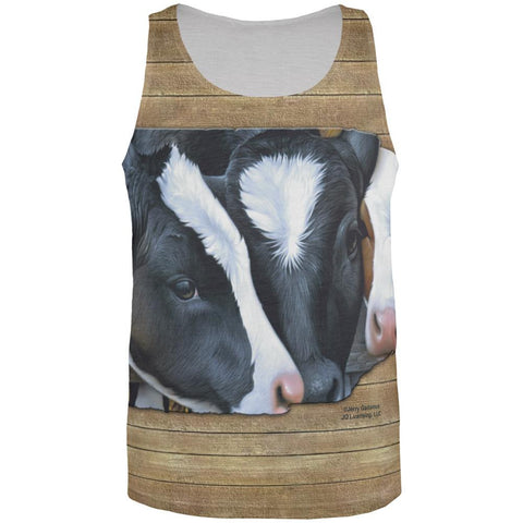 Queens of the Dairy Farm Cows All Over Mens Tank Top