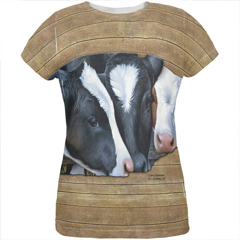 Queens of the Dairy Farm Cows All Over Womens T Shirt