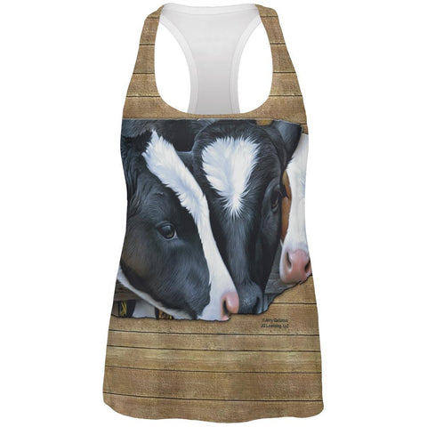 Queens of the Dairy Farm Cows All Over Womens Work Out Tank Top