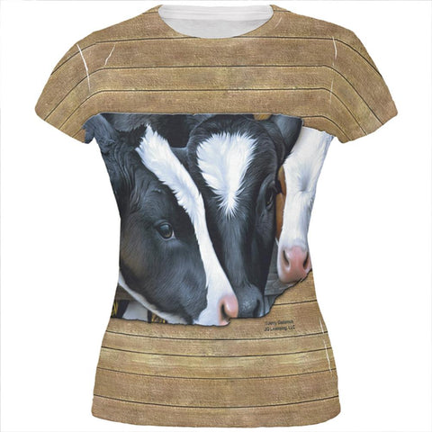 Queens of the Dairy Farm Cows All Over Juniors T Shirt