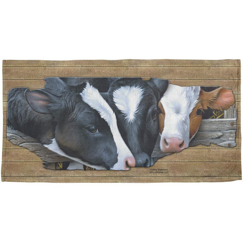 Queens of the Dairy Farm Cows All Over Beach Towel