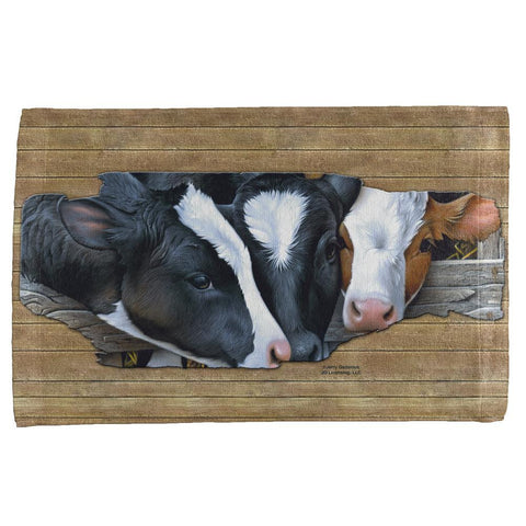 Queens of the Dairy Farm Cows All Over Hand Towel