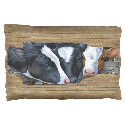 Queens of the Dairy Farm Cows Pillow Case