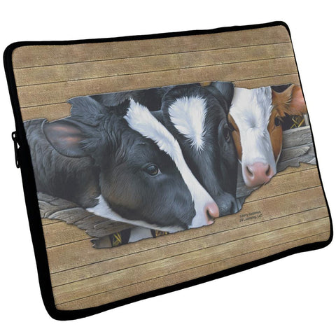 Queens of the Dairy Farm Cows Laptop Sleeve 17 inch