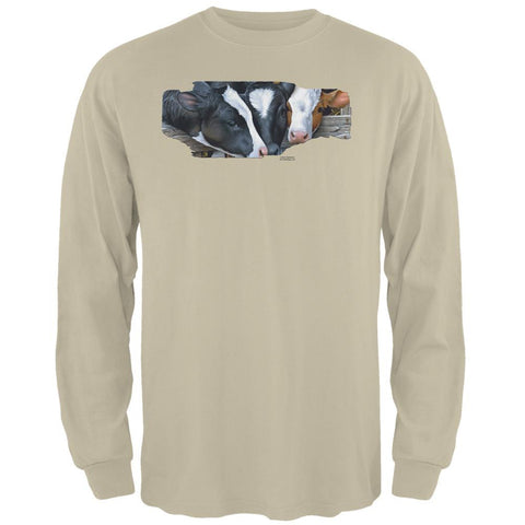 Queens of the Dairy Farm Cows Mens Long Sleeve T Shirt