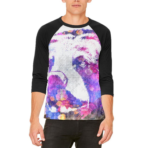 Spirit Bear Splatter Mens Raglan T Shirt