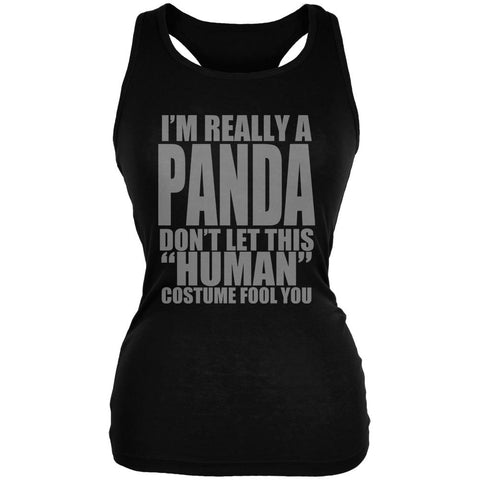 Halloween Human Panda Costume Juniors Soft Tank Top