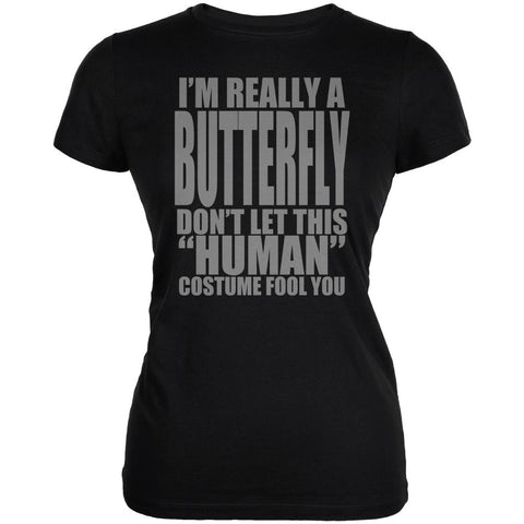 Halloween Human Butterfly Costume Juniors Soft T Shirt