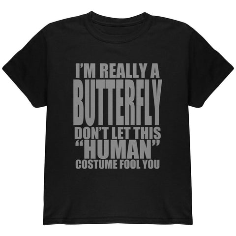 Halloween Human Butterfly Costume Youth T Shirt