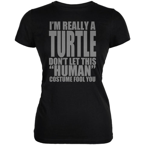 Halloween Human Turtle Costume Juniors Soft T Shirt