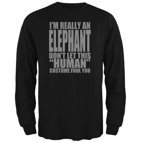 Halloween Human Elephant Costume Mens Long Sleeve T Shirt