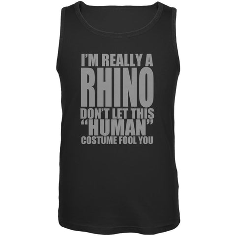 Halloween Human Rhino Costume Mens Tank Top