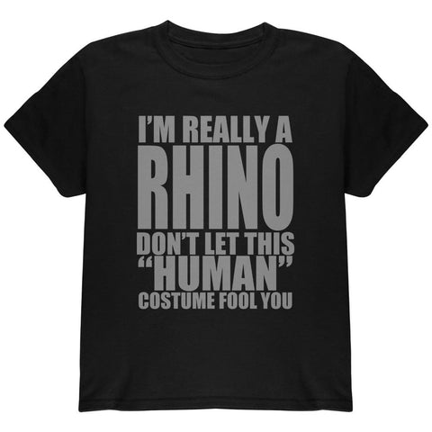 Halloween Human Rhino Costume Youth T Shirt