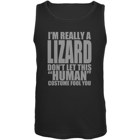 Halloween Human Lizard Costume Mens Tank Top