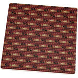Grizzly Bear Adirondack Pattern Red Square Sandstone Coaster