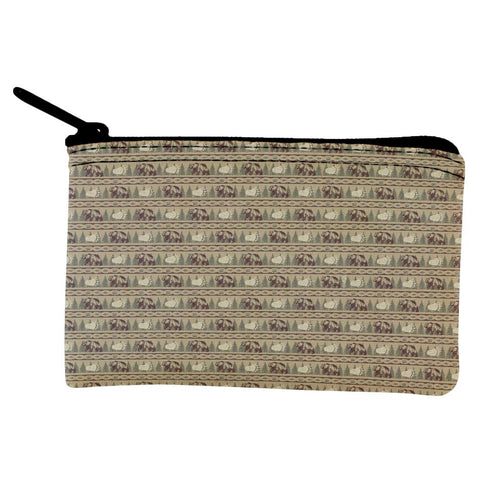 Grizzly Bear Adirondack Pattern Tan Coin Purse