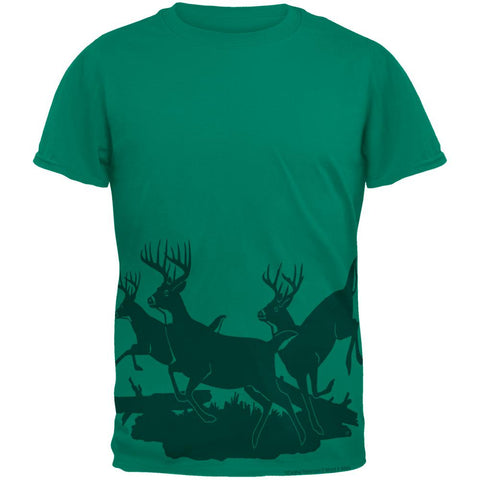Running Deer Silhouette Mens T Shirt