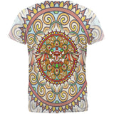Mandala Trippy Stained Glass Owl All Over Mens T Shirt