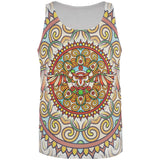 Mandala Trippy Stained Glass Owl All Over Mens Tank Top