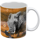Abstract Art Elephant All Over Coffee Mug