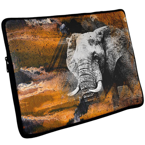 Abstract Art Elephant Laptop Sleeve 17 inch