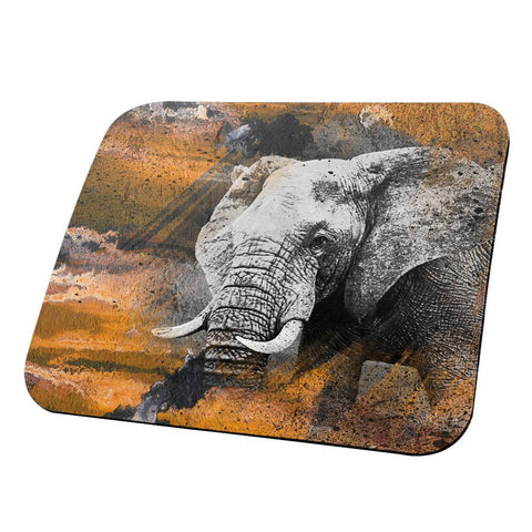 Abstract Art Elephant All Over Mouse Pad