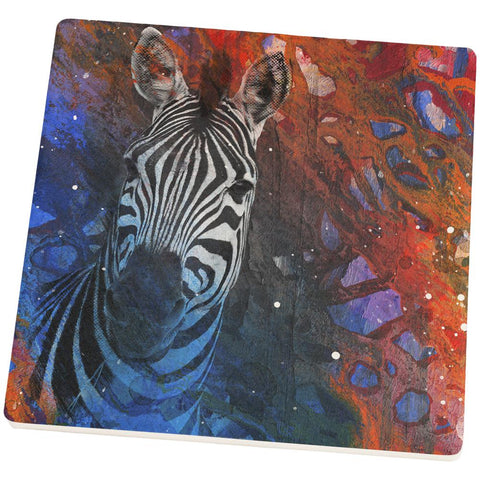 Abstract Art Zebra Square Sandstone Coaster